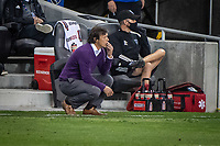 SAN JOSE, CA - NOVEMBER 04: Matias Almeyda Head Coach of the San Jose Earthquakes watches intently during a game between Los Angeles FC and San Jose Earthquakes at Earthquakes Stadium on November 04, 2020 in San Jose, California.