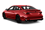 Car pictures of rear three quarter view of 2020 Toyota Avalon TRD 4 Door Sedan Angular Rear