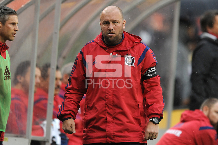 Washington, D.C.- March 29, 2014. Clint Mathis Chicago Fire Assistant Coach. The Chicago Fire tied D.C. United 2-2 during a Major League Soccer Match for the 2014 season at RFK Stadium.