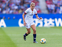 PARIS,  - JUNE 16: Allie Long #20 dribbles during a game between Chile and USWNT at Parc des Princes on June 16, 2019 in Paris, France.