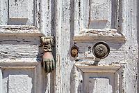 Door knocker on Kastellorizo, Greece
