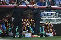 23rd September 2021;  Stadio Olimpicom, Roma, Italy; Serie A League Football, Roma versus Udinese; Roma trainer Jose Mourinho speaks to his bench players