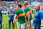 Gavin White and Tommy Walsh, Kerry celebrates after the All Ireland Senior Football Semi Final between Kerry and Tyrone at Croke Park, Dublin on Sunday.