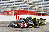2017 NASCAR Camping World Truck Series - Active Pest Control 200<br /> Atlanta Motor Speedway, Hampton, GA USA<br /> Saturday 4 March 2017<br /> Kyle Busch and Matt Crafton<br /> World Copyright: Nigel Kinrade/LAT Images<br /> ref: Digital Image 17ATL1nk06395