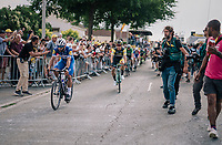 Dylan Groenewegen (NED/LottoNL-Jumbo) rolling in after winning the bunch sprint ahead of Fernando Gaviria (COL/Quick-Step Floors)<br /> <br /> Stage 7: Fougères > Chartres (231km)<br /> <br /> 105th Tour de France 2018<br /> ©kramon