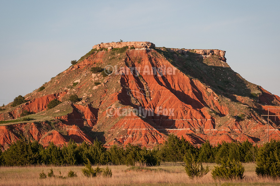 Lone Mt., Glass (Gloss) Mountains in Okla.