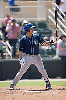 Colton Welker (24) of the Asheville Tourists at bat against the Kannapolis Intimidators at Kannapolis Intimidators Stadium on May 7, 2017 in Kannapolis, North Carolina.  The Tourists defeated the Intimidators 4-1.  (Brian Westerholt/Four Seam Images)