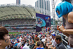 General view as part of the Cathay Pacific / HSBC Hong Kong Sevens at the Hong Kong Stadium on 29 March 2015 in Hong Kong, China. Photo by Manuel Bruque / Power Sport Images