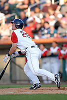 OF Ryan Westmoreland (sixth round draft pick in 2008)of the Lowell Spinners, the short season New York-Penn. League affiliate of the Boston Red Sox, at Edward LeLacheur Park in Lowell, MA on June 19, 2009 (Photo by Ken Babbitt/Four Seam Images)