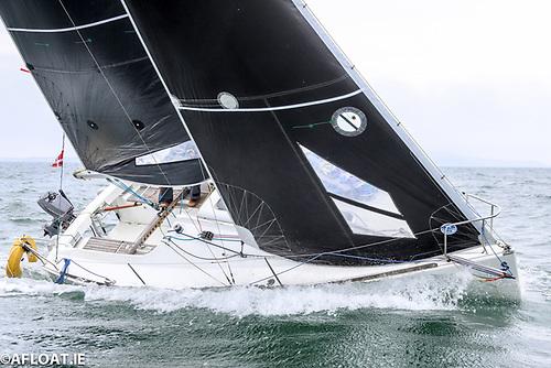 """Yikes"" flying her North Sails NPL Xi Carbon mainsil & North Sails NPL Aramid large jib"