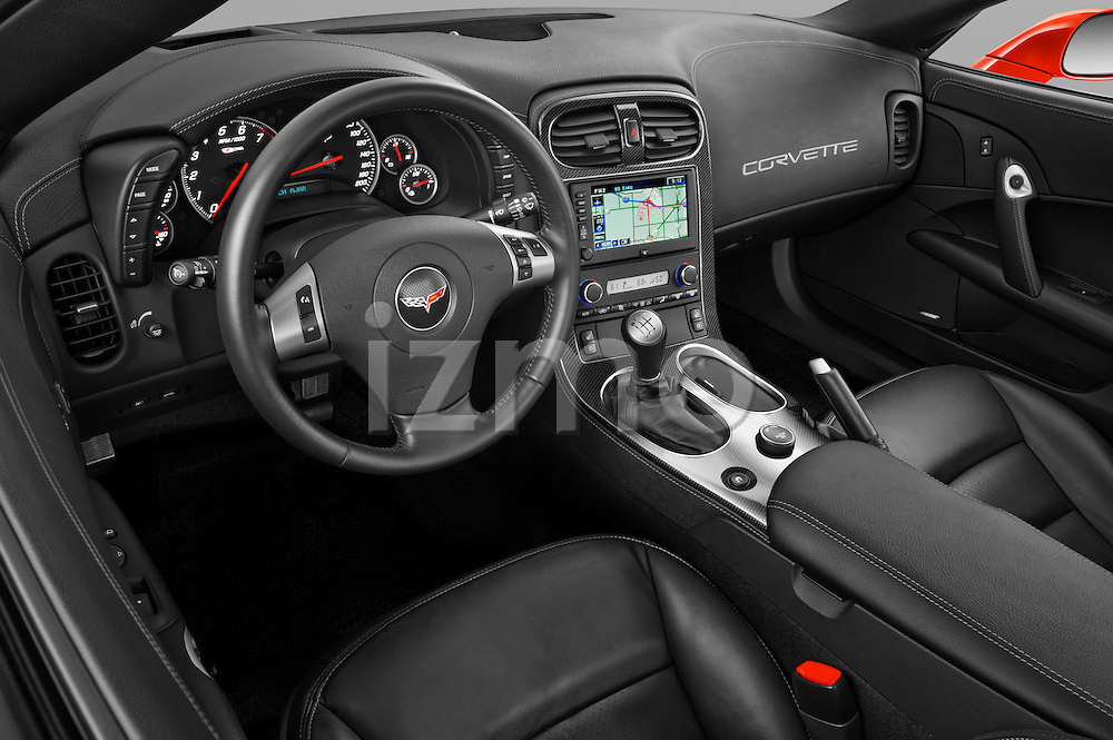 High angle dashboard view of a 2011 Chevrolet Corvette Z06
