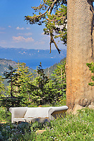 Couch above Lake Tahoe. California