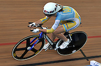 CALI – COLOMBIA – 28-02-2014: Genna Solovei de Ucrania durante la prueba de Persecucion Individual Damas en el Velodromo Alcides Nieto Patiño, sede del Campeonato Mundial UCI de Ciclismo Pista 2014. / Genna Solovei of Ukraine  during the test of the Women´s Individual Persuit at the Alcides Nieto Patiño Velodrome, home of the 2014 UCI Track Cycling World Championships. Photos: VizzorImage / Luis Ramirez / Staff.