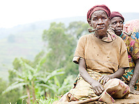 Women of a Batwa tribe. The Batwa are a pygmy people who were the oldest recorded inhabitants of the Great Lakes region of central Africa. South West Uganda