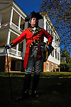CAMDEN - NOVEMBER 1: Man in British military dress at Revolutionary War Re-Enactment in Camden, South Carolina.