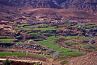 Atlal Mountains and fertile valley,  Morocc