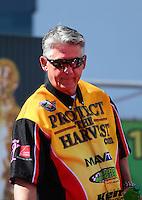 Mar 30, 2014; Las Vegas, NV, USA; NHRA pro stock driver Rodger Brogdon during the Summitracing.com Nationals at The Strip at Las Vegas Motor Speedway. Mandatory Credit: Mark J. Rebilas-