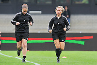 Bekerfinale 2012 : WD Lierse SK - Standard Femina :.Sharon Sluyts en Anne Cheron.foto David Catry / Joke Vuylsteke / Vrouwenteam.be