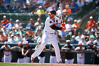 Baltimore Orioles first baseman Chris Davis (19) at bat during a Grapefruit League Spring Training game against the Tampa Bay Rays on March 1, 2019 at Ed Smith Stadium in Sarasota, Florida.  Rays defeated the Orioles 10-5.  (Mike Janes/Four Seam Images)