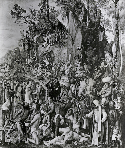 Martyrdom of the Ten Thousand Christians Under King Sapor of Persia Albrecht Durer (1471-1528 German)