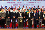 (First row from second from left to right) Michael Wood, Iain Roberts, Zhang Xiao Ning, T.K. Pen, Xu JIain Ping, JIaing Da Wei, and other authorities at the Opening Ceremony during World Ladies Championship 2016 on 09 March 2016 at Mission Hills Olazabal Golf Course in Dongguan, China. Photo by Victor Fraile / Power Sport Images
