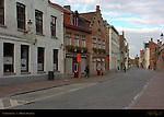 Street Scene: Langestraat, Bruges, Brugge, Belgium