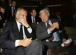 GIANNI AGNELLI E RAOUL GARDINI<br /> ASSEMBLEA CONFINDUSTRIA EUR - ROMA 1989