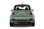 Straight rear view of a 2015 Fiat 500 Sport Door Hatchback Rear View  stock images