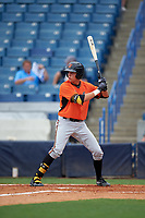 Josh Lowe (19) of Pope High School in Marietta, Georgia playing for the Baltimore Orioles scout team during the East Coast Pro Showcase on July 28, 2015 at George M. Steinbrenner Field in Tampa, Florida.  (Mike Janes/Four Seam Images)
