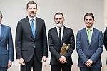 Spanish actor Antonio Banderas and King Felipe VI of Spain attends to the delivery of the Camino Real Award to spanish actor Antonio Banderas at Alcala de Henares in Madrid, April 26, 2017. Spain.<br /> (ALTERPHOTOS/BorjaB.Hojas)