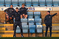 Exeter Manager, Matt Taylor, urges his team forward during Gillingham vs Exeter City, Emirates FA Cup Football at the MEMS Priestfield Stadium on 28th November 2020