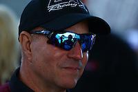 Sep 29, 2013; Madison, IL, USA; NHRA funny car driver Tim Wilkerson during the Midwest Nationals at Gateway Motorsports Park. Mandatory Credit: Mark J. Rebilas-