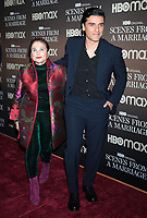 NEW YORK, NY- October 10: Tova Feldshuh, Oscar Isaac at the HBOMAX premiere of Scenes From A Marriage at the Museum of Modern Art Titus Theatre in New York City on October 10, 2021 <br /> CAP/MPI/RW<br /> ©RW/MPI/Capital Pictures