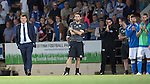 St Johnstone v FC Luzern...24.07.14  Europa League 2nd Round Qualifier<br /> Tommy Wright watches the penalty shoot out<br /> Picture by Graeme Hart.<br /> Copyright Perthshire Picture Agency<br /> Tel: 01738 623350  Mobile: 07990 594431