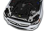 Car stock 2018 Mercedes Benz E Class E400 2 Door Convertible engine high angle detail view