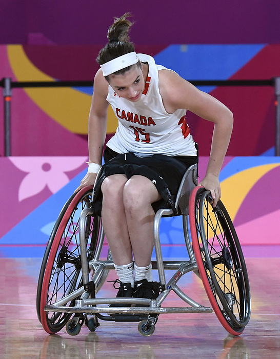 Danielle Duplessis, Lima 2019 - Wheelchair Basketball // Basketball en fauteuil roulant.<br /> Women's wheelchair basketball competes against Argentina // Le basketball en fauteuil roulant féminin contre Argentine. 25/08/2019.