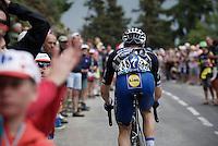 Petr Vakoc (CZE/Etixx-QuickStep) up the Montée de Bisanne (HC/1723m/12.4km/8.2%)<br /> <br /> Stage 19:  Albertville › Saint-Gervais /Mont Blanc (146km)<br /> 103rd Tour de France 2016