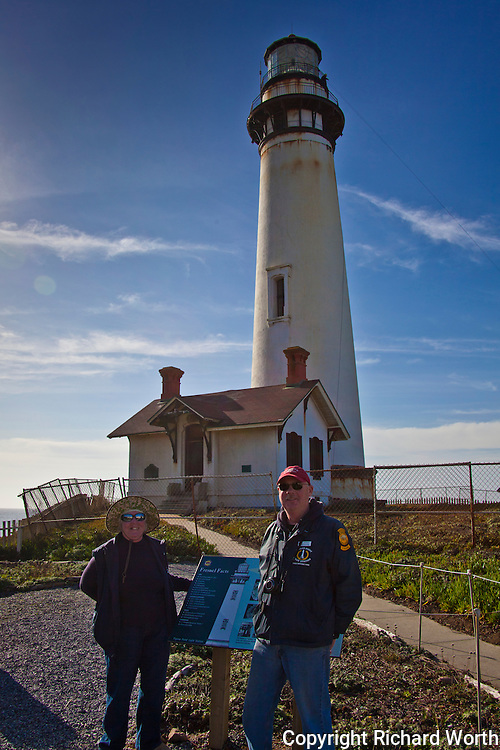 Volunteer docents Nancy Frost and Rob Johnson provide expert insight and information at Pigeon Point Light Station State Historic Park.