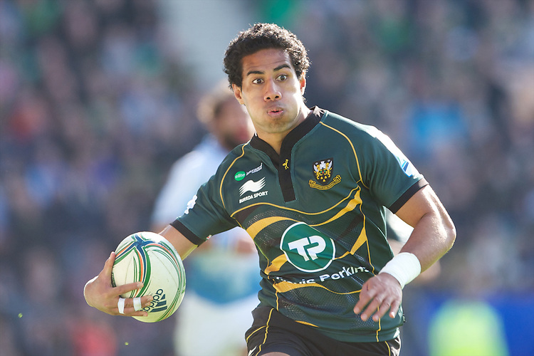 Ken Pisi of Northampton Saints in action during the Heineken Cup match between Northampton Saints and Glasgow Warriors  at Franklin's Gardens on Sunday 14th October 2012 (Photo by Rob Munro)