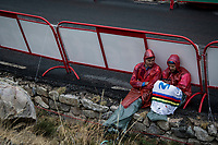 waiting for the race to arrive at the finish<br /> <br /> Stage 20: Arenas de San Pedro to Plataforma de Gredos (190km)<br /> La Vuelta 2019<br /> <br /> ©kramon