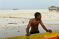SIERRA LEONE, boat trip along the coast of atlantic ocean from river No. 2 to Tombo