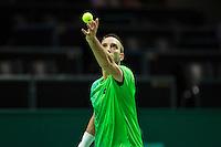 Rotterdam, The Netherlands, Februari 11, 2016,  ABNAMROWTT, Viktor Troicki (SRB)<br /> Photo: Tennisimages/Henk Koster