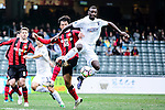 Auckland City Forward Joao Pereira (r) fights for the ball with FC Seoul Defender Kwak Tae Hwi (l) during the 2017 Lunar New Year Cup match between Auckland City FC (NZL) and FC Seoul ((KOR) on January 28, 2017 in Hong Kong, Hong Kong. Photo by Marcio Rodrigo Machado/Power Sport Images
