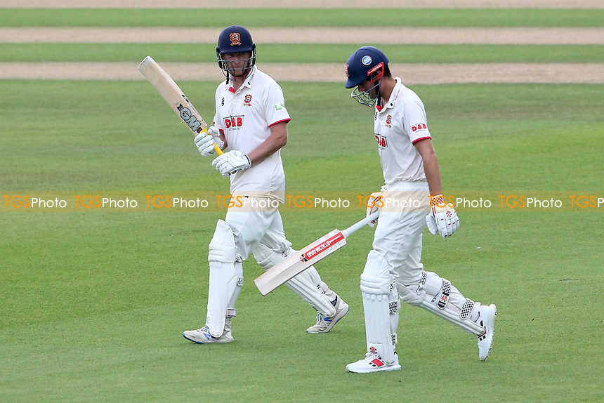 Tom Westley and Sir Alastair Cook of Essex walk out to bat after lunch during Surrey CCC vs Essex CCC, LV Insurance County Championship Division 2 Cricket at the Kia Oval on 12th September 2021