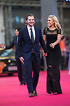 Natalie Gulbis and her husband Joshua walk the Red Carpet event at the World Celebrity Pro-Am 2016 Mission Hills China Golf Tournament on 20 October 2016, in Haikou, China. Photo by Victor Fraile / Power Sport Images