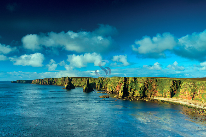 Duncansby Sea Stacks and the North Sea, Duncansby Head, John o' Groats, Caithness