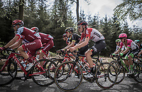 Tiesj Benoot (BEL/Lotto Soudal)<br /> <br /> 104th Liège - Bastogne - Liège 2018 (1.UWT)<br /> 1 Day Race: Liège - Ans (258km)