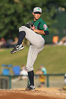 Beloit Snappers pitcher Matt Summers #24 delivers a pitch during a game against the Kane County Cougars at Fifth Third Bank Ballpark on June 26, 2012 in Geneva, Illinois. Beloit defeated Kane County 8-0. (Brace Hemmelgarn/Four Seam Images)