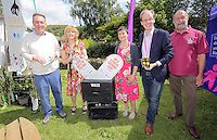Pictured L-R: MP Nick Smith, Maria Golightly, Veronica Bramovic of Gwent Wildlife Trust, Phillip Turvil and Richard Waller of Gwent Wildlife Trust Saturday 13 August 2016<br />