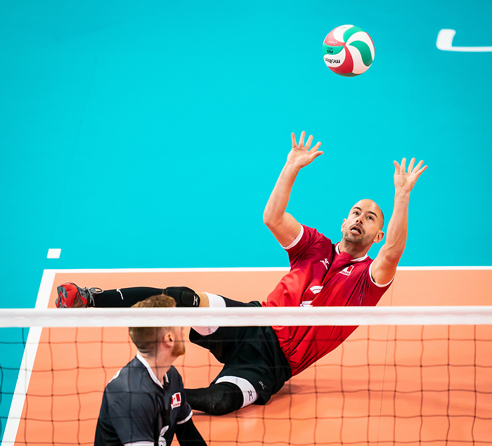 Mikael Bartholdy, Lima 2019 - Sitting Volleyball // Volleyball assis.<br /> Canada competes in men's Sitting Volleyball // Canada participe au volleyball assis masculin. 25/08/2019.